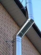 Колено 45 для дымохода (термо) 1 мм н/н AISI 321, фото 2