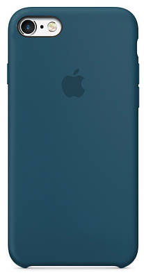 Чехол накладка на iPhone 5/5s/se Silicone Case Cosmos blue