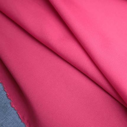 Костюмная ткань габардин малиновый, фото 2