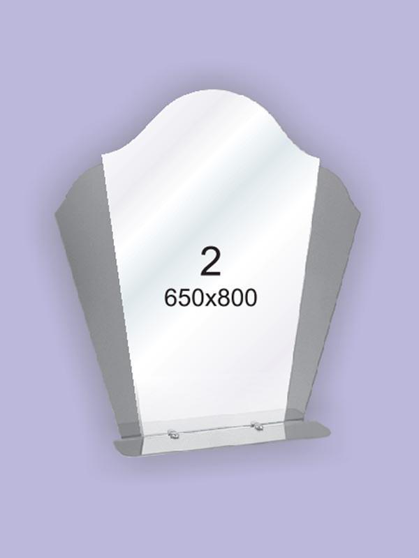 Зеркало для ванной комнаты 650х800 Ф2