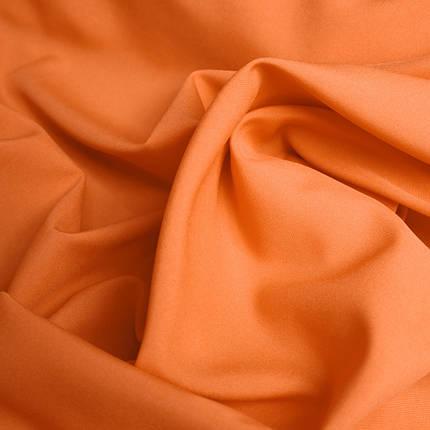 Костюмная ткань габардин оранжевый, фото 2