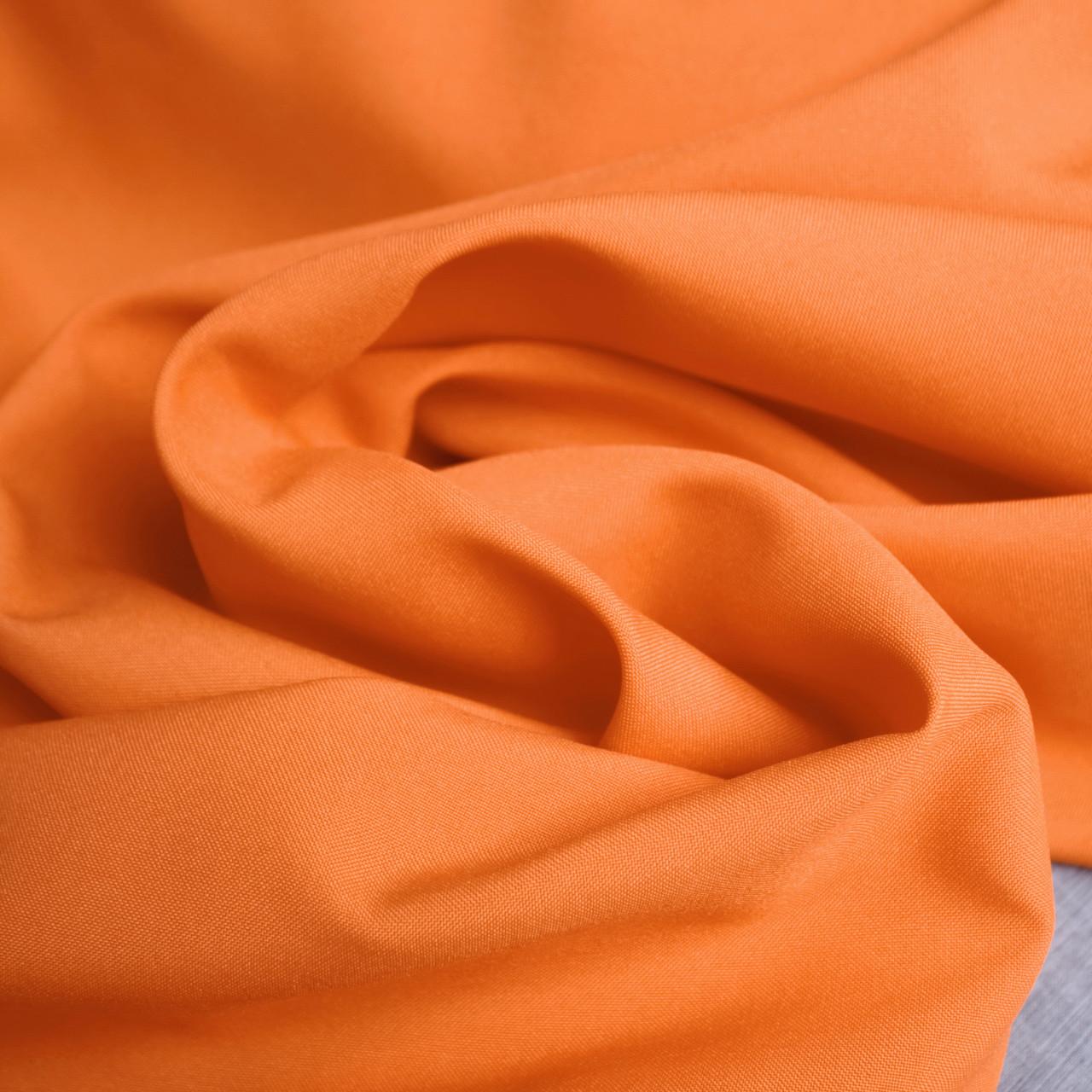 Костюмная ткань габардин оранжевый