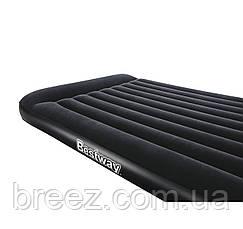 Двуспальный надувной матрас Bestway 67464 со встроенным насосом 203 х 152 х 22 см, фото 2