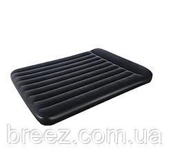 Двуспальный надувной матрас Bestway 67464 со встроенным насосом 203 х 152 х 22 см, фото 3