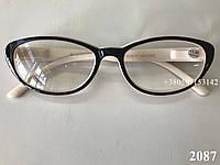 Элегантные женские очки. Модель 2087 черный / бежевый, фото 1