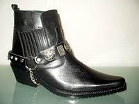 Казаки Etor зимние мужские кожаные ботинки , фото 1