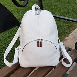 Рюкзак білий шкіряний жіночий. колір шкіри можна будь-який. Виробник Україна