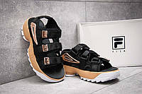 Женские сандалии Fila Disruptor II SD Black/Gold РЕПЛИКА
