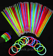 Применение светящихся неоновых браслетов