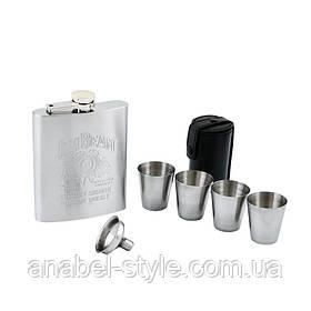 Подарочный набор с флягой для мужчин (Фляга/4 стопки/лейка)  GT-QK-16-1 Код 117087