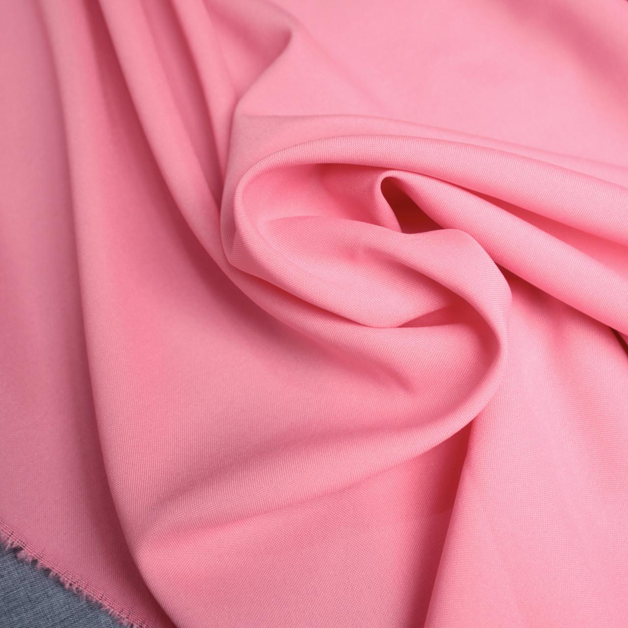 Костюмная ткань габардин розовый