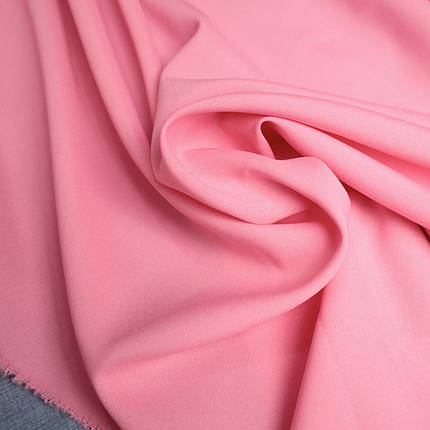 Костюмная ткань габардин розовый, фото 2