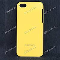 Чехол для Apple iPod touch 5, пластиковый, Buble Pack, желтый