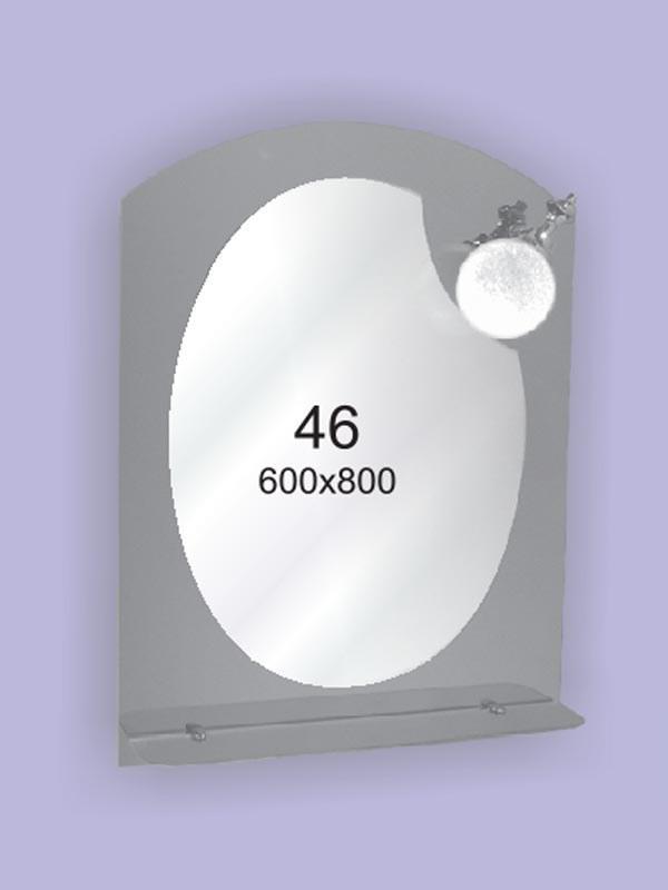 Зеркало для ванной комнаты 600х800 Ф46 БЕЗ СВЕТИЛЬНИКА