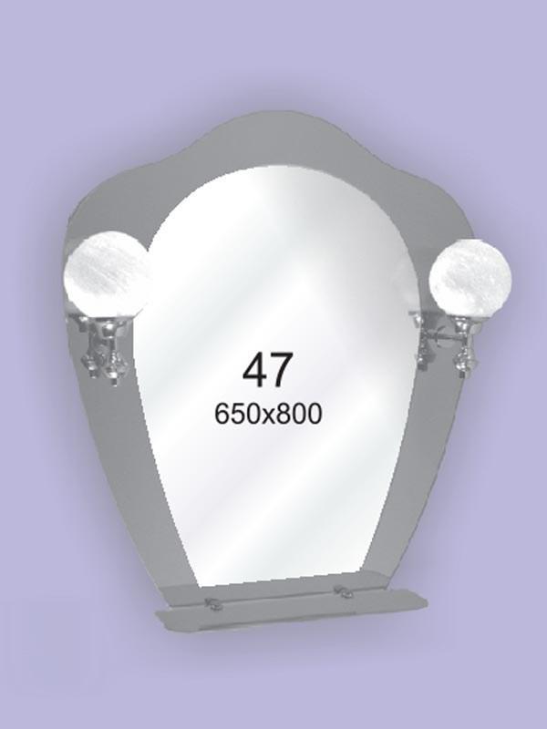 Зеркало для ванной комнаты 650х800 Ф47 БЕЗ СВЕТИЛЬНИКОВ