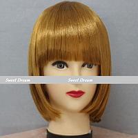 Новинка! Женский элегантный модный парик для вечеринок, стрижка каре боб, прямые волосы с челкой, цвет золото