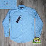 Яркий нарядный костюм для мальчика 7-8 лет: голубая рубашка и брюки, фото 2