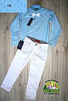 Яркий нарядный костюм для мальчика: голубая рубашка Tommy Hilfiger и брюки, фото 1