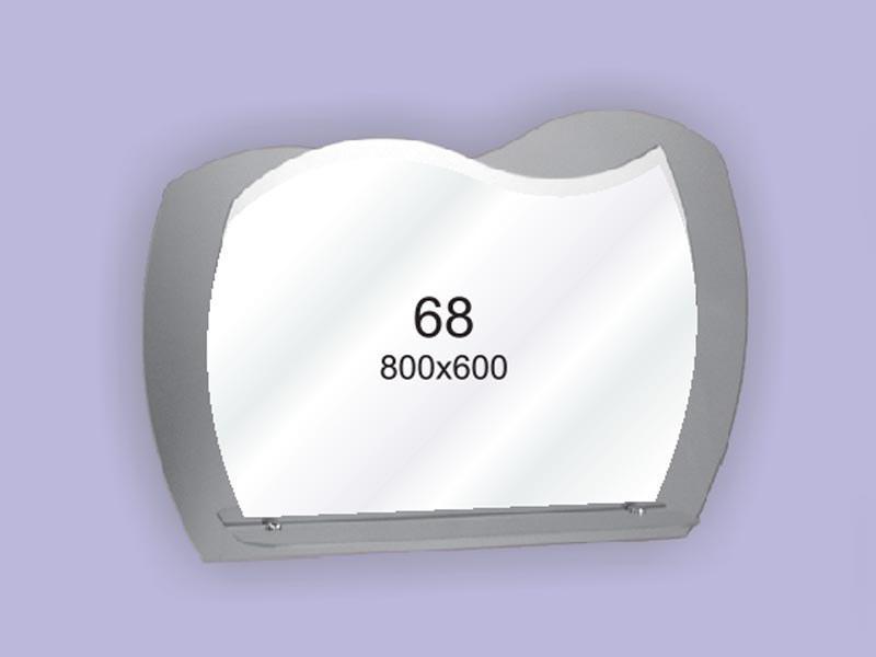 Зеркало для ванной комнаты 800х600 Ф68