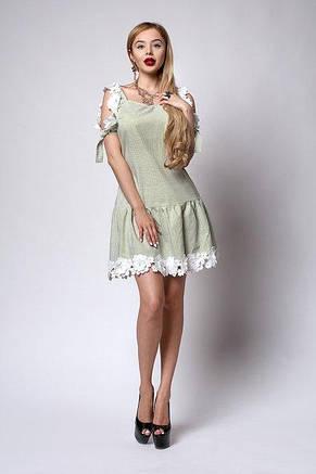 Очень красивое женское летнее платье с кружевом 44-48, фото 2