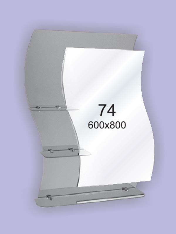 Зеркало для ванной комнаты 600х800 Ф74
