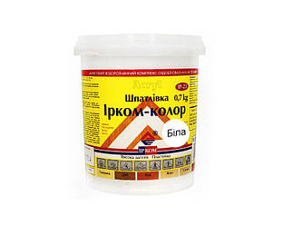 Шпатлевка акриловая ІРКОМ-КОЛОР IP-23 для древесины белая 0,7кг