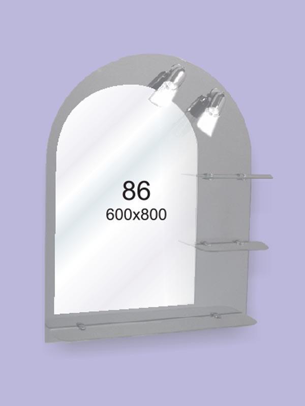 Зеркало для ванной комнаты 600х800 Ф86 БЕЗ СВЕТИЛЬНИКОВ