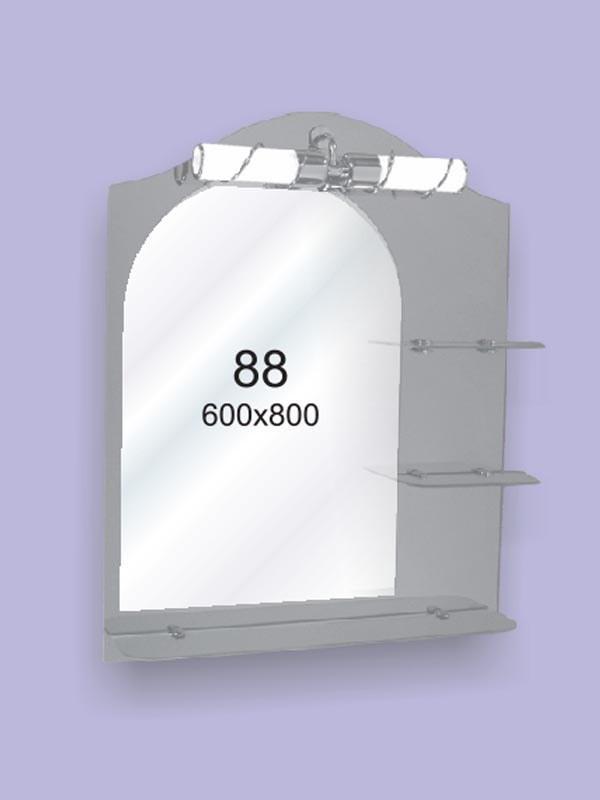 Зеркало для ванной комнаты 600х800 Ф88 БЕЗ СВЕТИЛЬНИКА