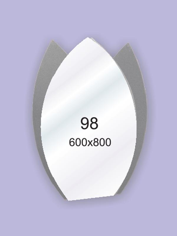 Зеркало для ванной комнаты 600х800 Ф98