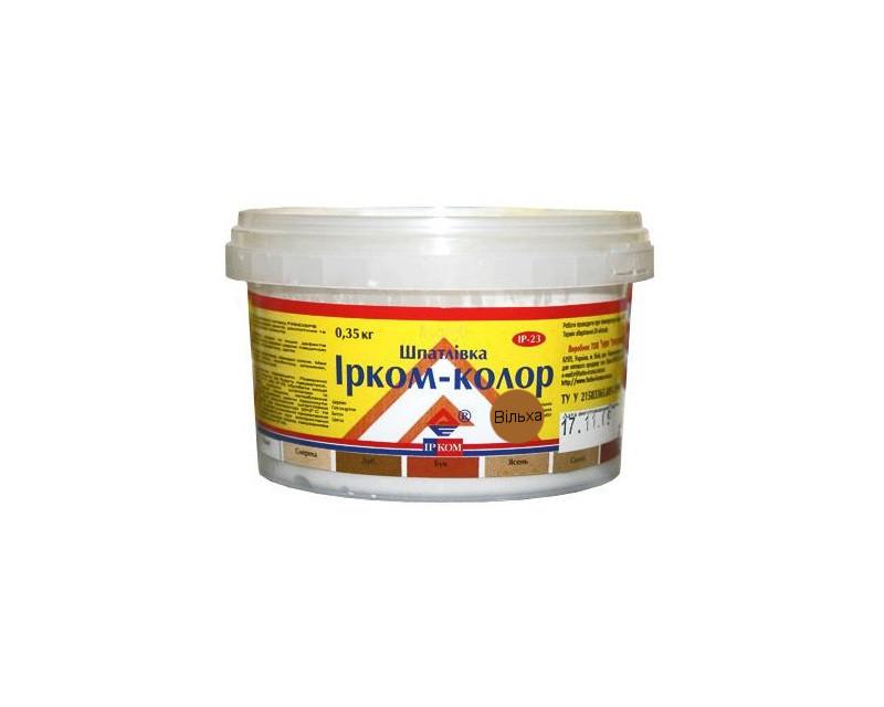 Шпатлевка акриловая ІРКОМ-КОЛОР IP-23 для древесины ольха 0,35кг