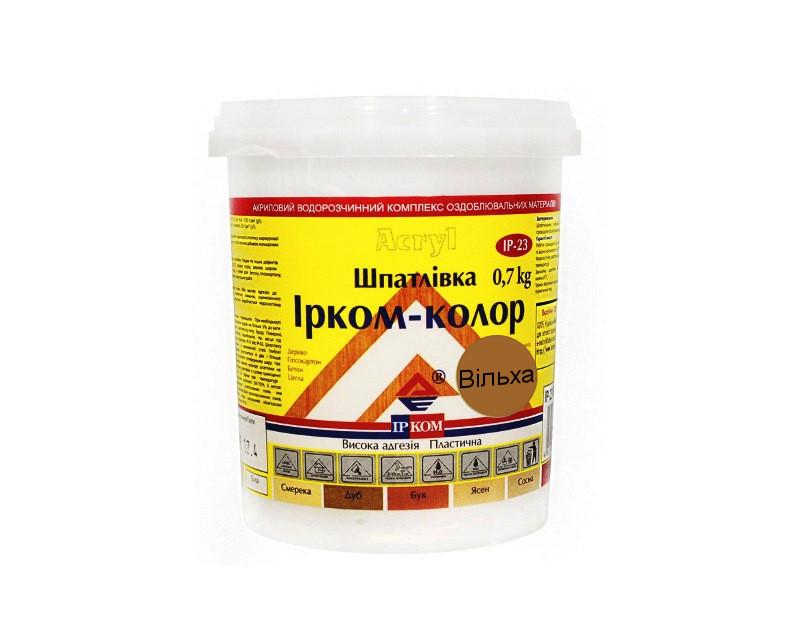 Шпатлевка акриловая ІРКОМ-КОЛОР IP-23 для древесины ольха 0,7кг