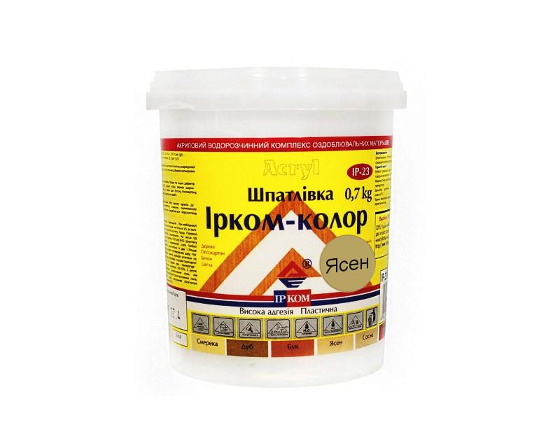 Шпатлевка акриловая ІРКОМ-КОЛОР IP-23 для древесины ясень 0,7кг