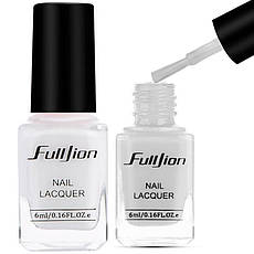 FullJion Лак для защиты кутикулы снимаемый Peel OFF Nail Skin Protector 6ml Белый, фото 3