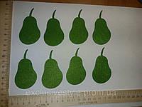Аппликация клеевая зеленая груша из фетра