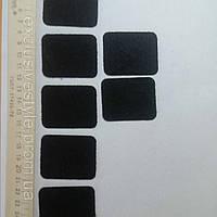 Термонаклейка черный прямоугольник