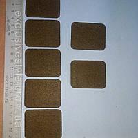 Термонаклейка коричневый прямоугольник