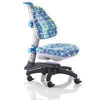 Детское кресло Royce kinder KY-318ВА, обивка голубая со зверятами