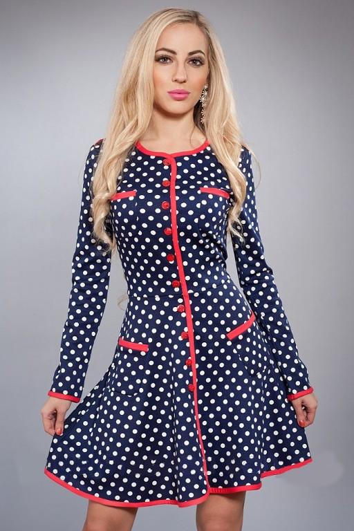 Женское трикотажное платье - новинка осени, 42,46