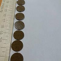 Термонаклейка маленький коричневый круг