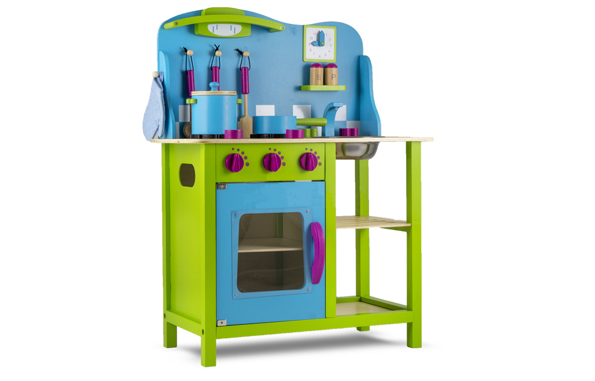 Кухня детская игровая деревянная Tobi Toys 04 (интерактивная кухня кухня для детей)