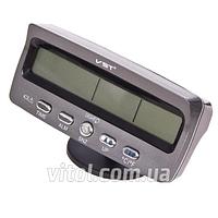 Термометр внутренний/ наружный/ часы/ вольтметр/ подсветка VST 7045V, Часы для авто, Часы автомобильные, Автомобильный термометр, Электронные часы