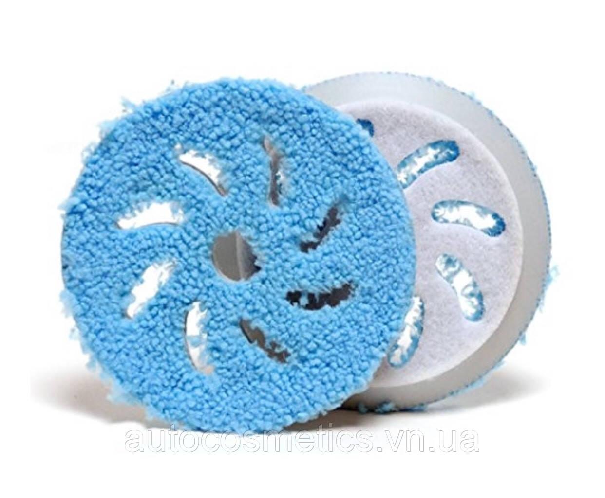 Полировальный круг из микрофибры RUPES Ø 130/150мм COARSE, синий