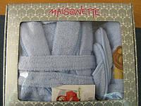 Maisonette Халат детский Aslan +полотенце ( голубой)