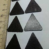 Термо аппликация маленький коричневый треугольник