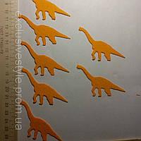 Клеевая аппликация оранжевый динозавр №1