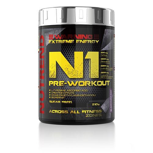 Предтренировочный комплекс Nutrend N1 Pre-Workout 510 g