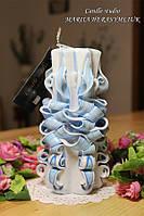 Голубая шестигранная свеча
