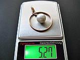 Золотая подвеска Б/У с ЖЕМЧУГОМ 5.27 грамма ЗОЛОТО 583 пробы, фото 6