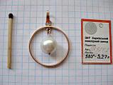Золотая подвеска Б/У с ЖЕМЧУГОМ 5.27 грамма ЗОЛОТО 583 пробы, фото 9