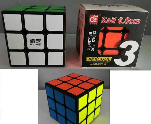 Кубик-Рубик 3х3х3 разм. 6,8см в коробке ( Ч ), фото 2